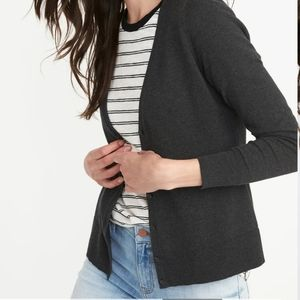 Old Navy Little Black Cotton Cardigan Size M